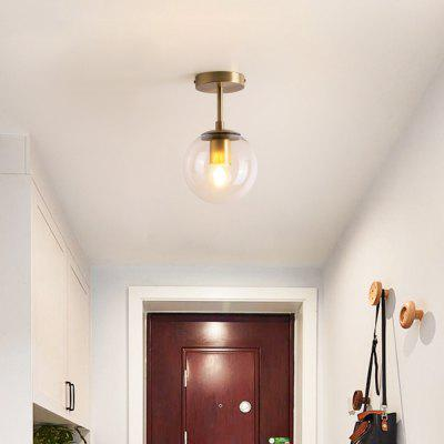 Balcony Porch Aisle Bedroom Copper Retro Vintage Ceiling Lamps Plafonnier Lighting