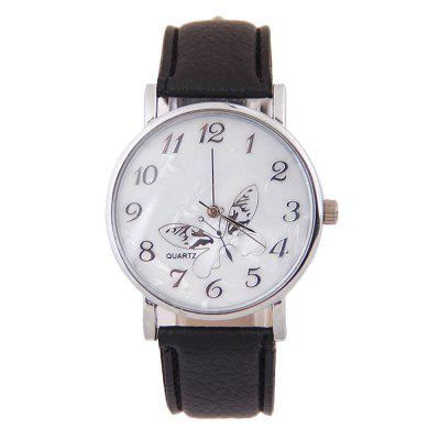 Best Luxury Embossed Band Butterfly Ladies Watches Leather Loop Woman Watch Exquisite Gift