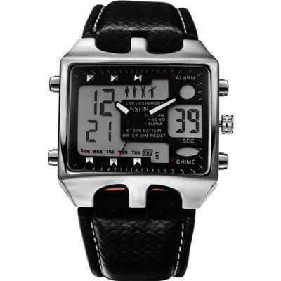 Mens Sport Black Dial LED Digital Nice Wrist Watch