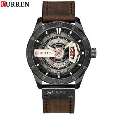 Men Military Sports Watches Quartz Date Clock Man Casual Leather Wrist Watch