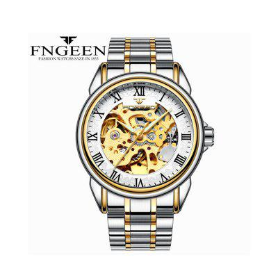 Men Luxury Skeleton Automatic Winding Mechanical Watches