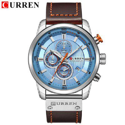 Luxury Brand Men Analog Digital Leather Sports Watches