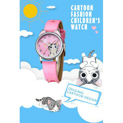 Fashion Watches Girls Cute Cats Pattern Watch Best Gift with Birthday Christmas
