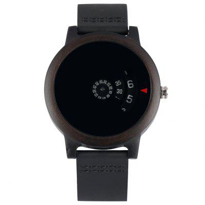 Creative Ebony Quartz Watch Full Black Dark Watches Women Nice Wristwatch
