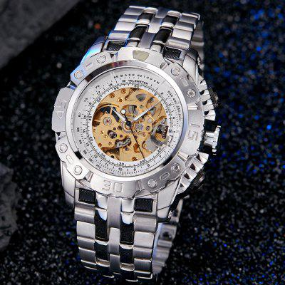 Luxury Automatic Mechanical Watch Skeleton Wristwatch
