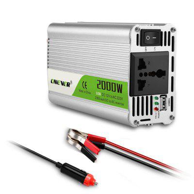 2000W USB Charger DC 12V To AC 220V Portable Car Power Inverter Battery Converter Adapter