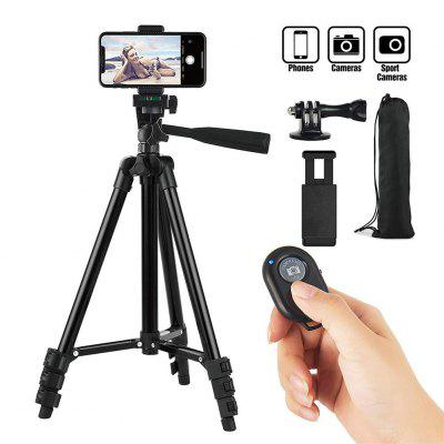 Aluminum Alloy Tripod Stand for Mobile for DSLR Camera Mount with Wireless Remote Control