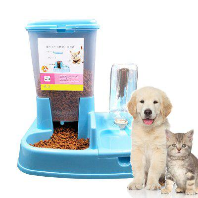 Automatic Feeder Double Bowl Automatic Drinking Water Pet Automatic Feeder Dog Bowl Dog Supplies