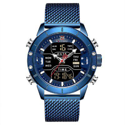 Men Watch Military Sport Quartz Wrist Watches Stainless Steel LED Digital Clock