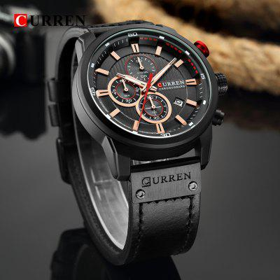Luxury Men Analog Digital Leather Sports Watches Men Gents Military Watch Man Quartz Clock