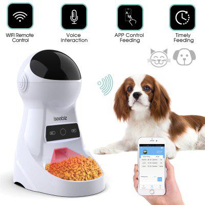 Automatic Feeder Dog Drinking Bowl with Voice Recording and LCD Screen Dog Dispensers