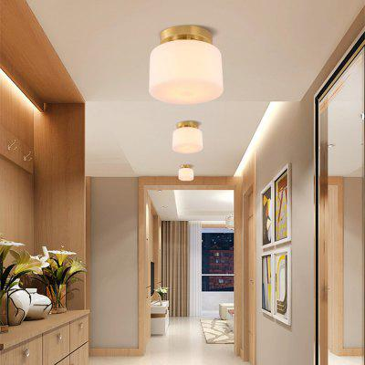 E27 American style Real Copper Ceiling Light