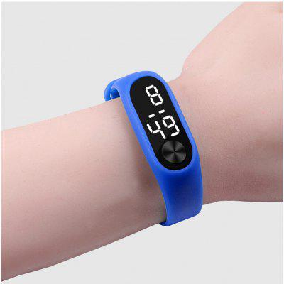 Fashion Casual Sports Bracelet Watches White LED Electronic Digital Candy Color Silicone Wrist Watch