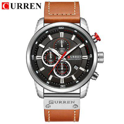 Men Analog Digital Leather Sports Watches Men Army Military Watch