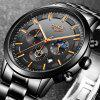 Men Fashion Sport Quartz Watches Luxury Business Waterproof Chronograph Watch