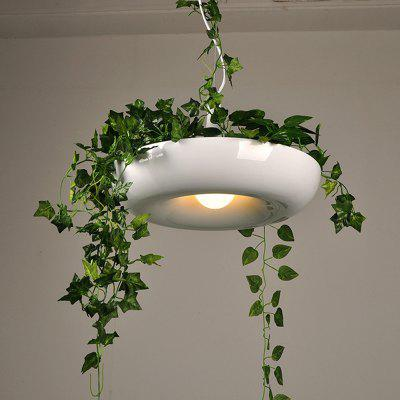 Nordic Plant Hanging Light Fixtures DIY Sky Pot Hanging Lamp Dining Room Restaurant Lighting