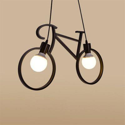 Retro Pendant Light Creative Iron Bicycle Pendant Lamp Hanging Lamps