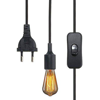 E27 Lamp Holder Plug in Pendant Light Silicone Holder with Switch