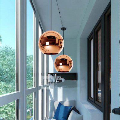 Copper Gold Silver Loft Kitchen Island Dining Table Glass Ball Pendant Lamp