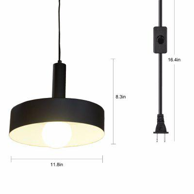 Plug in Pendant Light Industrial Hanging Vintage Hanging Light Fixture with Switch