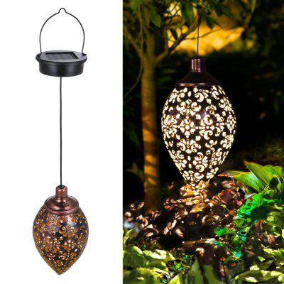 Waterproof Solar Garden Light LED Lantern Hanging Outdoor Solar Lamp Olive Shape Solar Powered Lamp