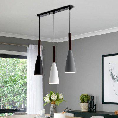 Modern 3 Pendant Lighting Nordic Minimalist Black Pendant Light Dining Table Kitchen Lights E27