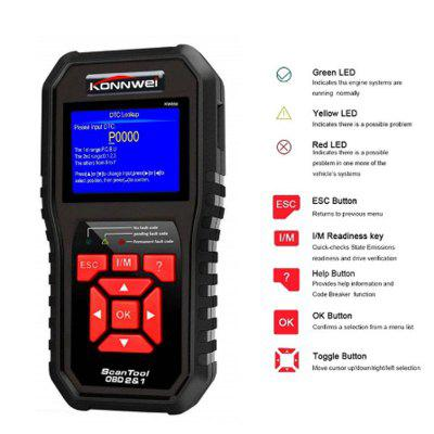 KW850 OBD2 Auto Car Diagnostic Scanner Tool Code Reader Scanning Machine
