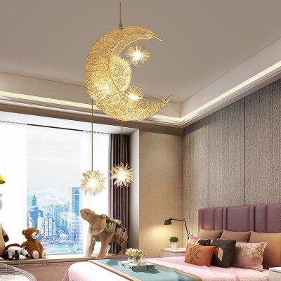 Ceiling Lamps Modern Pendant LED Moon Star Chandelier Children Bedroom Hanging Lamp