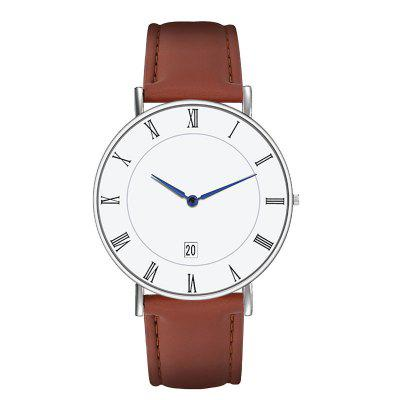 Top Brand Mens Watches Simple Minimalist Quartz Roman Numerals Watch Business Classic Wrist Watch