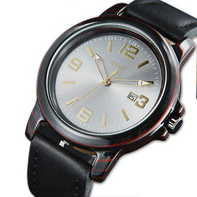 Men Watches Carbon Fibre Watch Shockproof Waterproof Watch for Men with Leather Strap