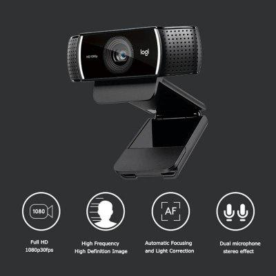 Autofocus Webcam 1080P 30FPS Full HD Anchor Camera with Tripod HD 720P 60FPS Streaming Video Web Cam
