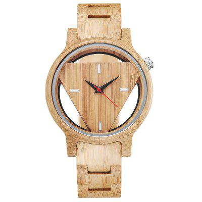 Full Wood Watch Male Trianlge Face Men Women Wooden Wrist Watches Minimalist Clock