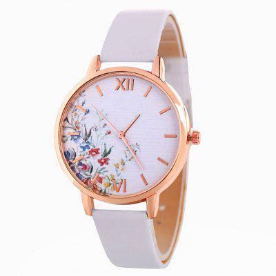 Ladies Leather Strap Casual Quartz Watch Waterproof Female Watch Fashionable Popular Nice Gift