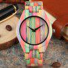 Colorful Wooden Watches Fashion Full Wood Clock Quartz Wrist Watch Nice Wooden Band for Men Women