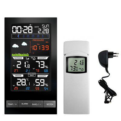 Wireless Weather Station 2810 Indoor Outdoor Thermometer Color Forecast Station Alarm Clock