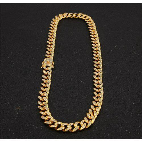 14k Gold over 925 Sterling Silver Cuban Necklace chain Italy 3mm 4mm d1