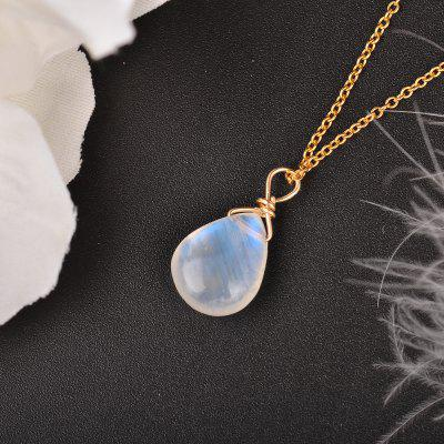 Natural Moonstone US 14k gold jewelry Chain Pendant Necklace