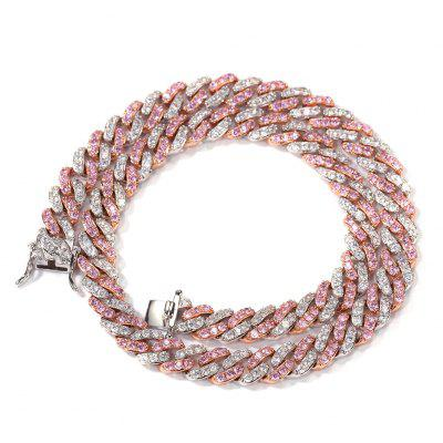9mm Iced Out Women Choker Necklace Cuban Link With Cubic Chain Jewelry