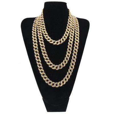 HipHop 15mm Cuban Link Choker Chain Mens Link Chain Jewelry