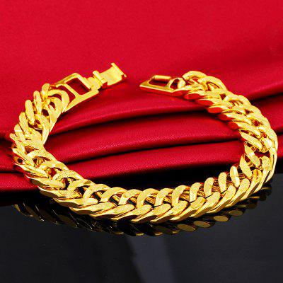 12mm 24 Karat Gold Chain Bracelets for Men
