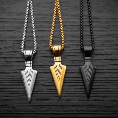 Mens Fashion Jewelry Gold Silver black Arrow Head Pendant Long Chain