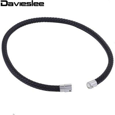 Thin Brown Black Braided Cord Rope Man Made Leather Chain for Mens
