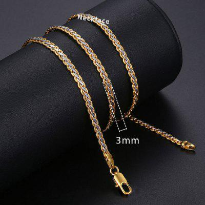 Necklace For Women Men Gold Filled Figaro Rope Snake Curb Cuban Link Chain Fashion Jewelry