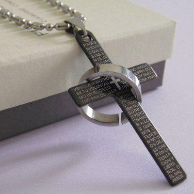 Male Necklace Cross Platinum Chain for Men