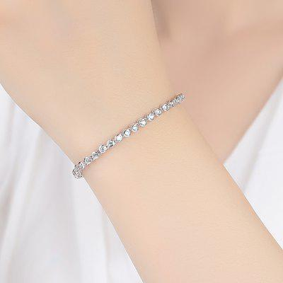 925 Sterling Silver Bracelet for Women Diamond Tennis Chain Link Chain Bracelet
