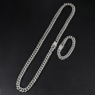 13MM Gold Silver Full Miami Curb Cuban Chain CZ Bling Rapper Necklaces