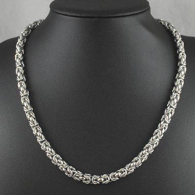 Silver Cuban Link Chain Necklace Stainless Rope Steel Gifts Men Jewellry