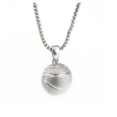 3D Pendants Necklaces Charms Circle Oval Baseball Punk Chains