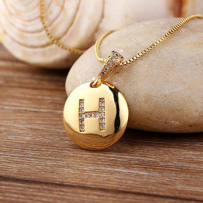 Women Girls Initial Letter Necklace Gold Charm Necklaces Pendants