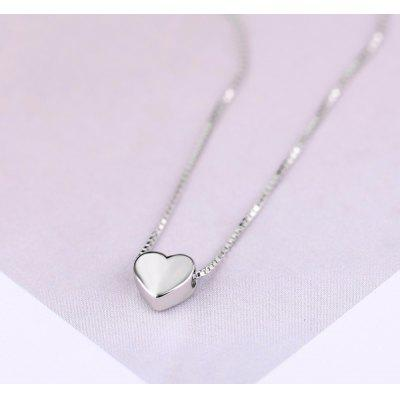 925 Sterling Silver Love Heart Necklaces for Women Long Necklaces